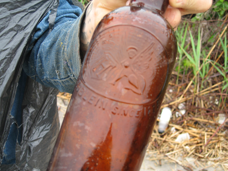 Some bottles dated back to the 19th century, and most likely came from the original bars.