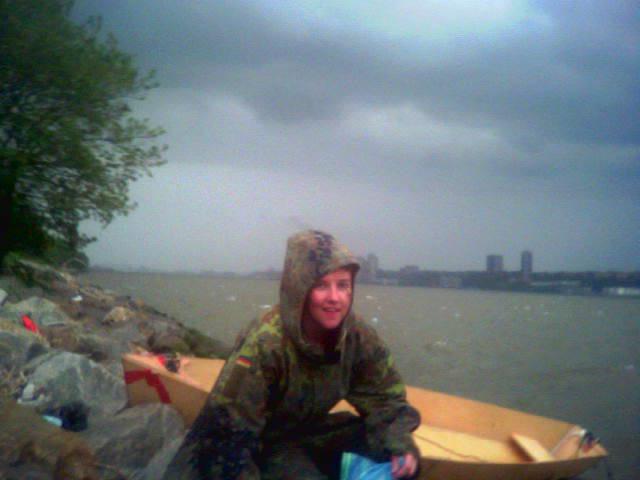 Boat capsizes in storm.