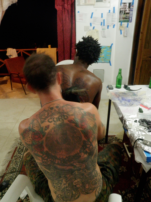 Tattooing Bequian Whaler