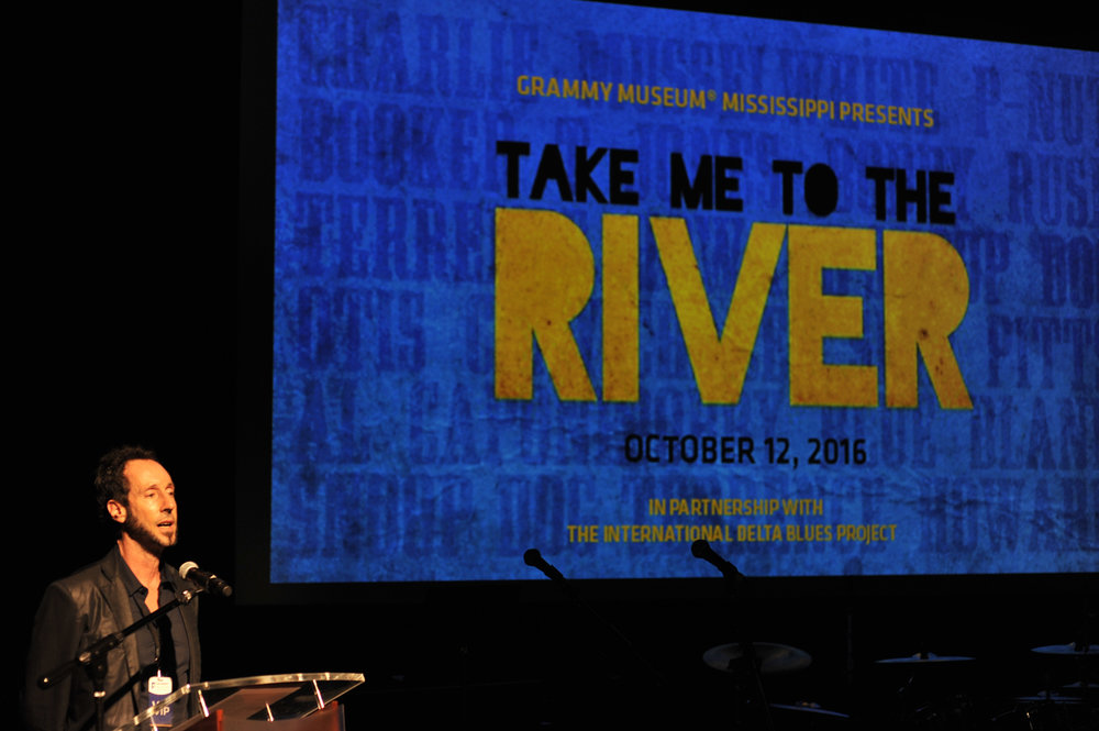 Martin Shore introduces his film    Take Me to the River