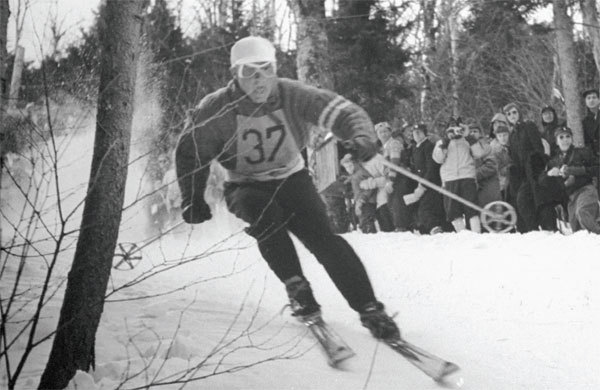 Steve Knowlton in the 1946 Roch Cup on Aspen Mountain.