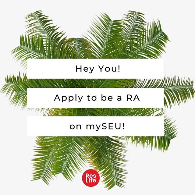 Thinking about being an RA next year? Make sure you go online and fill out an application ASAP!!