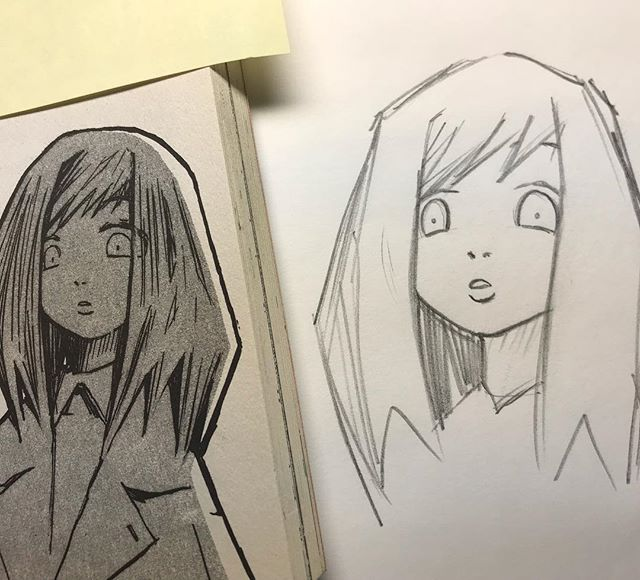 "For those who saw my ""Leaning to Draw Manga with Cognitive Drawing"" video the other day. Here is my first attempt from memory the next day. Looks like I retained almost everything. I could definitely do a few more rounds to really refine it though. :)"
