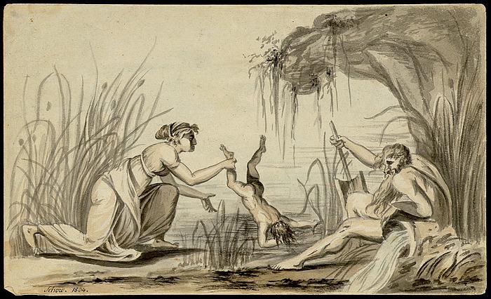 Joachim Godske Schow, Thetis Dipping Achilles in the River Styx , 1804, Thorvaldsens Museum,  www.thorvaldsensmuseum.dk