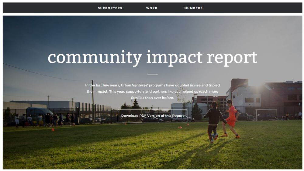 "Check out our ""year in review"" highlights, visit: impact.urbanventures.org"