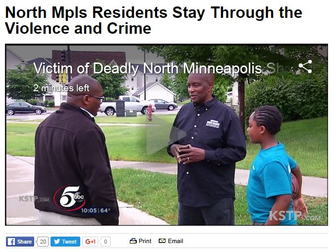 John Turnipseed on KSTP discussing increased in gun violence on the north side, and the reasons to stay rooted. Watch it here: bit.ly/22JTaxJ