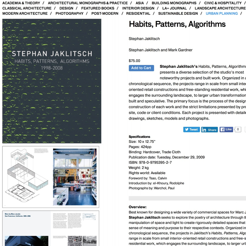 Habits, Patterns, Algorithms ,  Stephan Jaklitsch, 2009