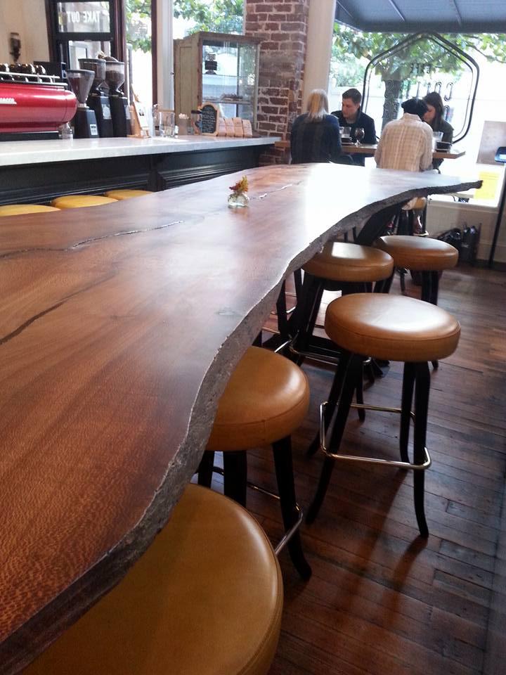 Live Edged Banksia Slab Table