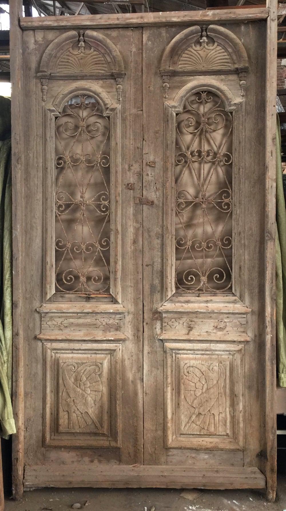 Green Painted Antique Barn Door 27\  x 70\  \u2014 $325 & Vintage Sale: Reclaimed Antique Doors \u2014 Southern Pine Company