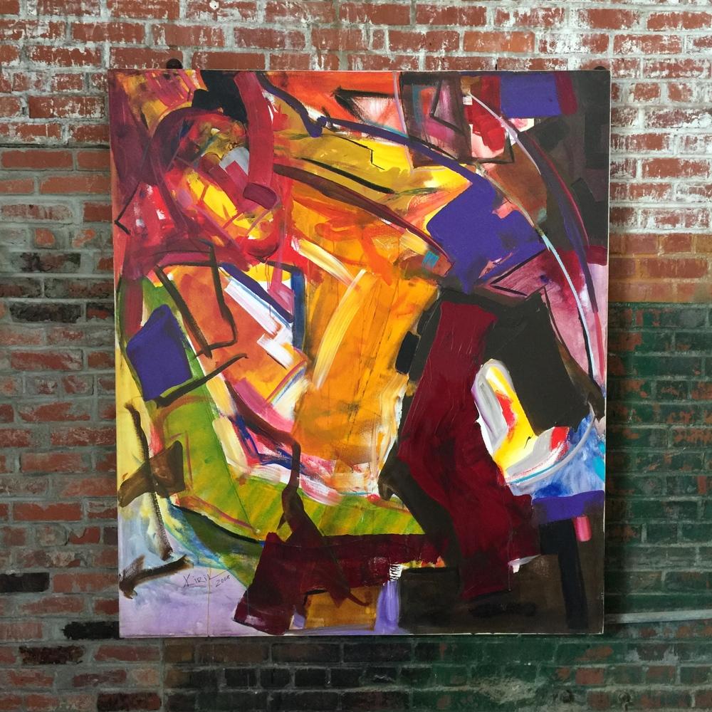 "Kiril Jeliazkov, acrylic on canvas, 54""x62"", 2008."