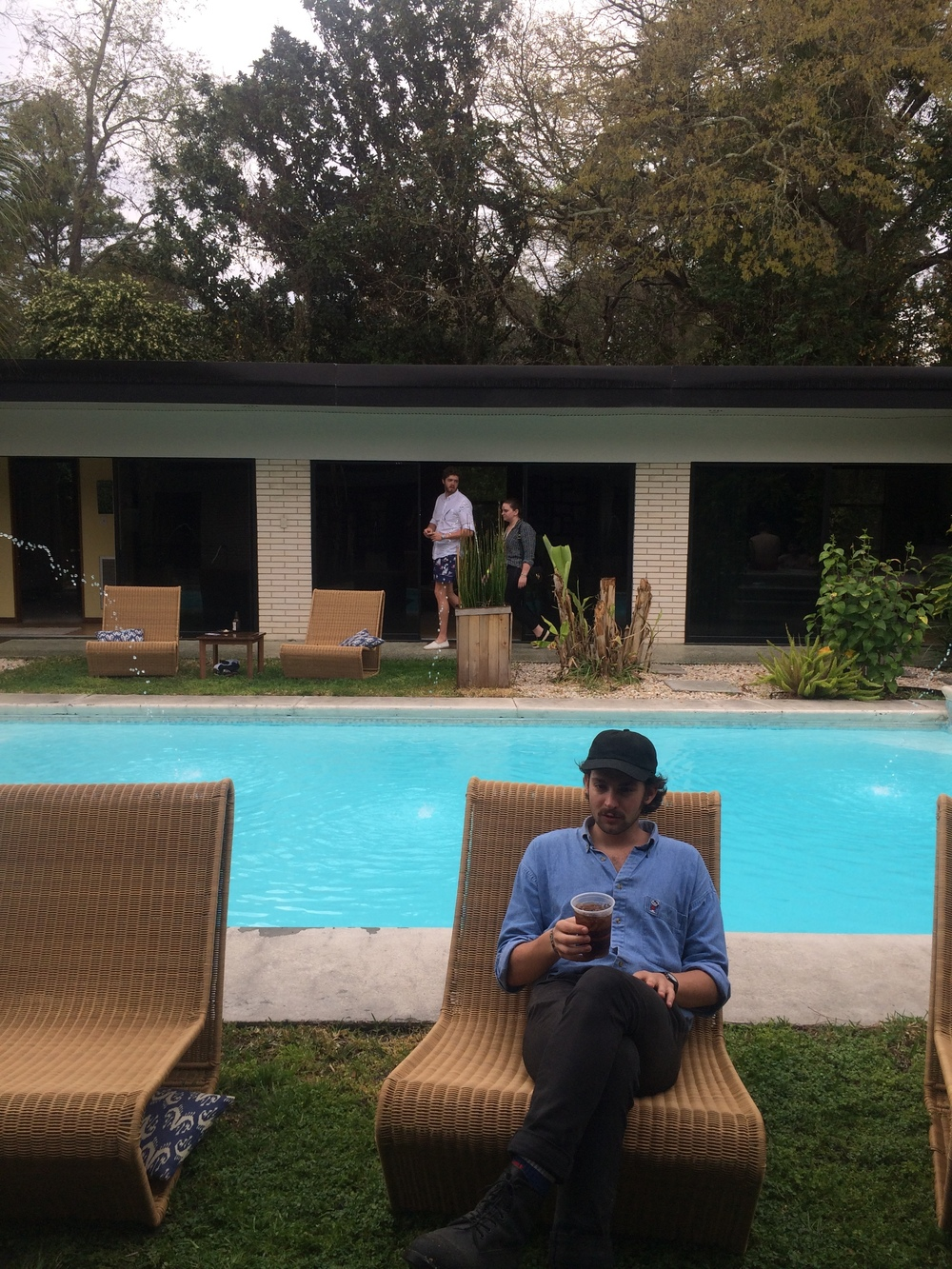 We had the pleasure of recovering from Stopover at Richard Lane's stunning mid-century house with our friends. Here's relaxing Adam.