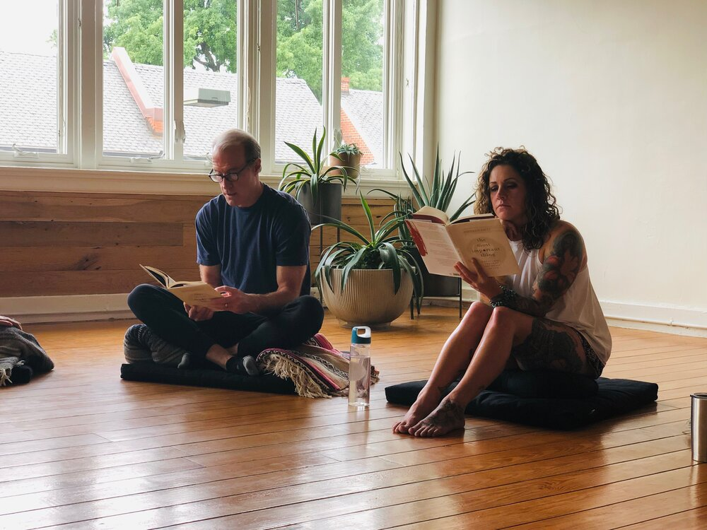 """Nov 6<br/><a href=""""http://www.ashtangayogarichmond.com/workshops-and-events/"""">Chai and Chats...</a>"""