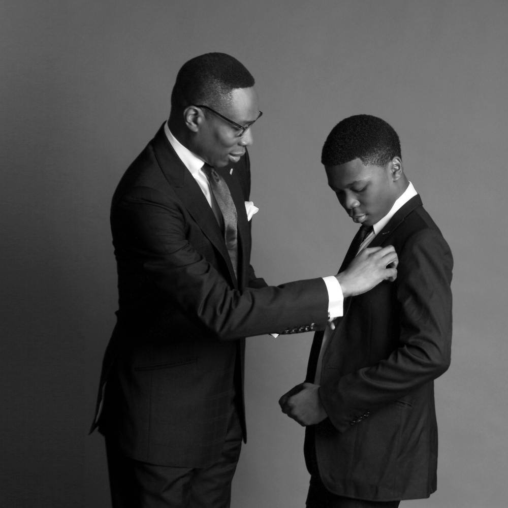 Dr Tony Rapu with his son, Tobe Pic Credit: TY Bello
