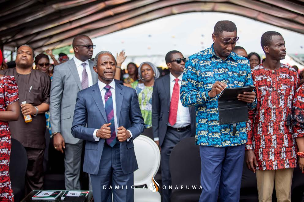 The Vice President of Nigeria and Pastor Tony Rapu at the Freedom Rally
