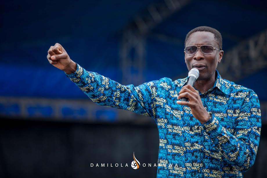 Pastor Tony Rapu speaking at The Freedom Rally