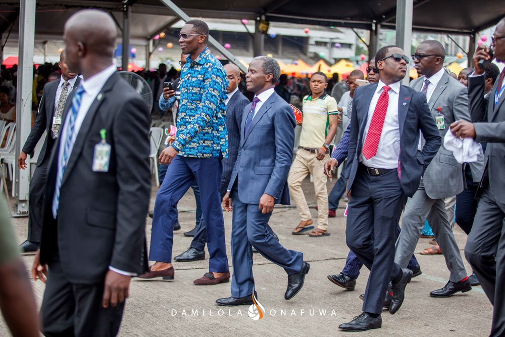 Pastor Tony Rapu and the Vice President of Nigeria, Prof Yemi Osinbajo at the Freedom Rally