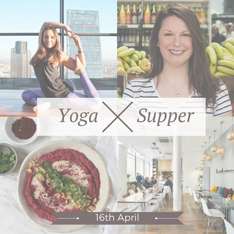 Join  Ceri Jones  and I for a 4-Course Culinary Yoga Supper at  The Printworks Kitchen  16th April. Arrive at 6.15 pm for a Flowing and Grounding Yoga class, followed by Ceri's amazing food. Enjoy an evening of movement and delicious seasonal food in great company. Book your tickets  here . We can't wait.