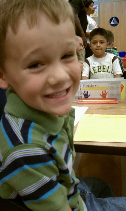 Kaden in school