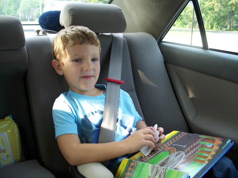 Evan in car