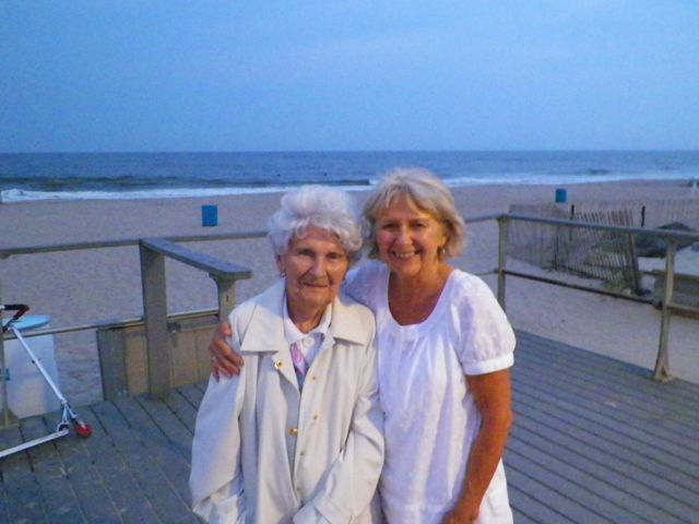 Mommy & Me on the boardwalk in Belmar
