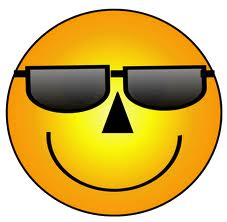 smile with sunglasses