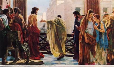 Trial before Pilate