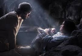 Jesus, Mary, Joseph in stable