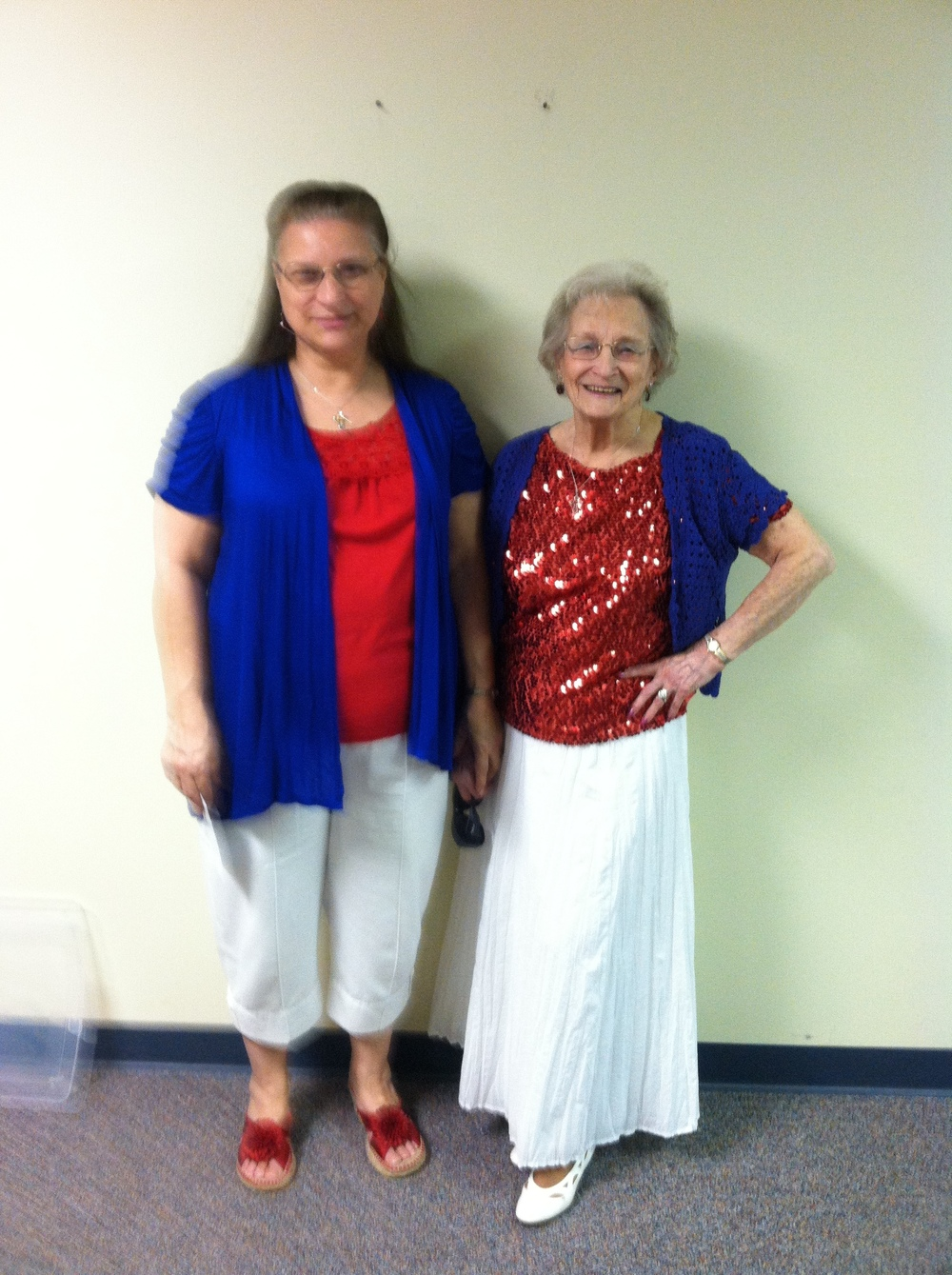 Susan ( our GED math volunteer) with her 95 year old Mom Marie