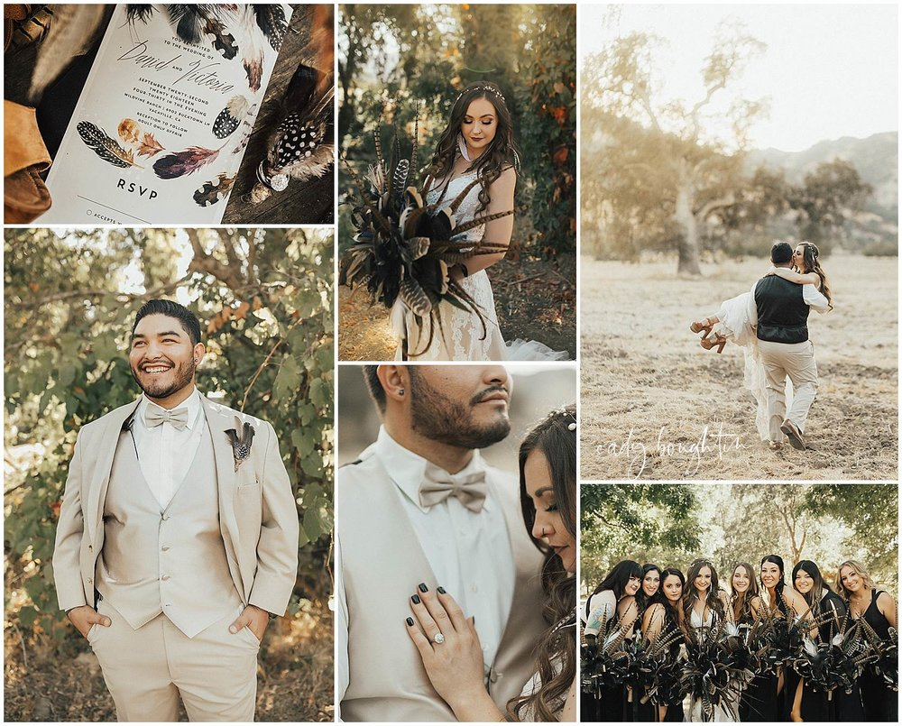 boho vacaville wedding
