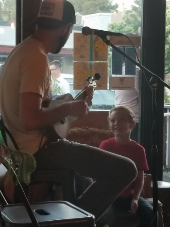 Jackson with a good seat at Yellowbelly.  Thanks Raul Cano Rogers for the shot.