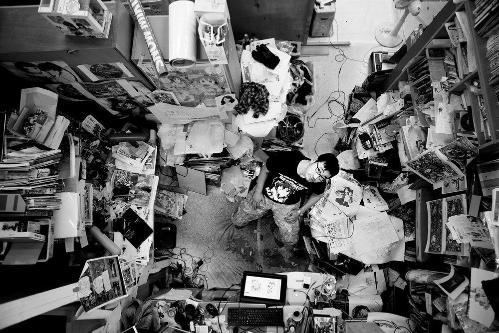 MR. in his Tokyo studio