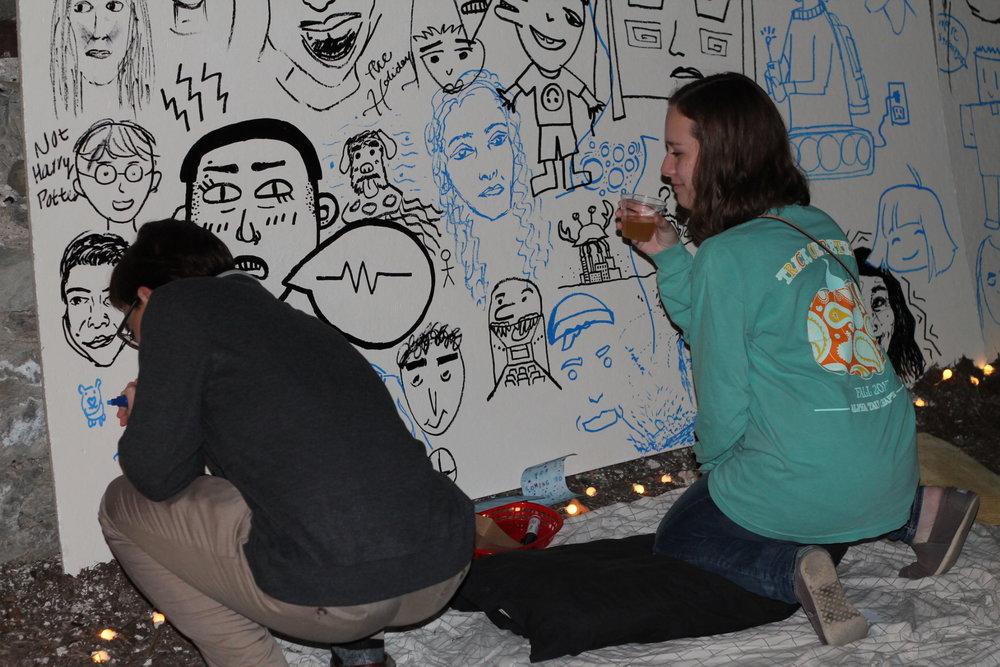 Mural wall.