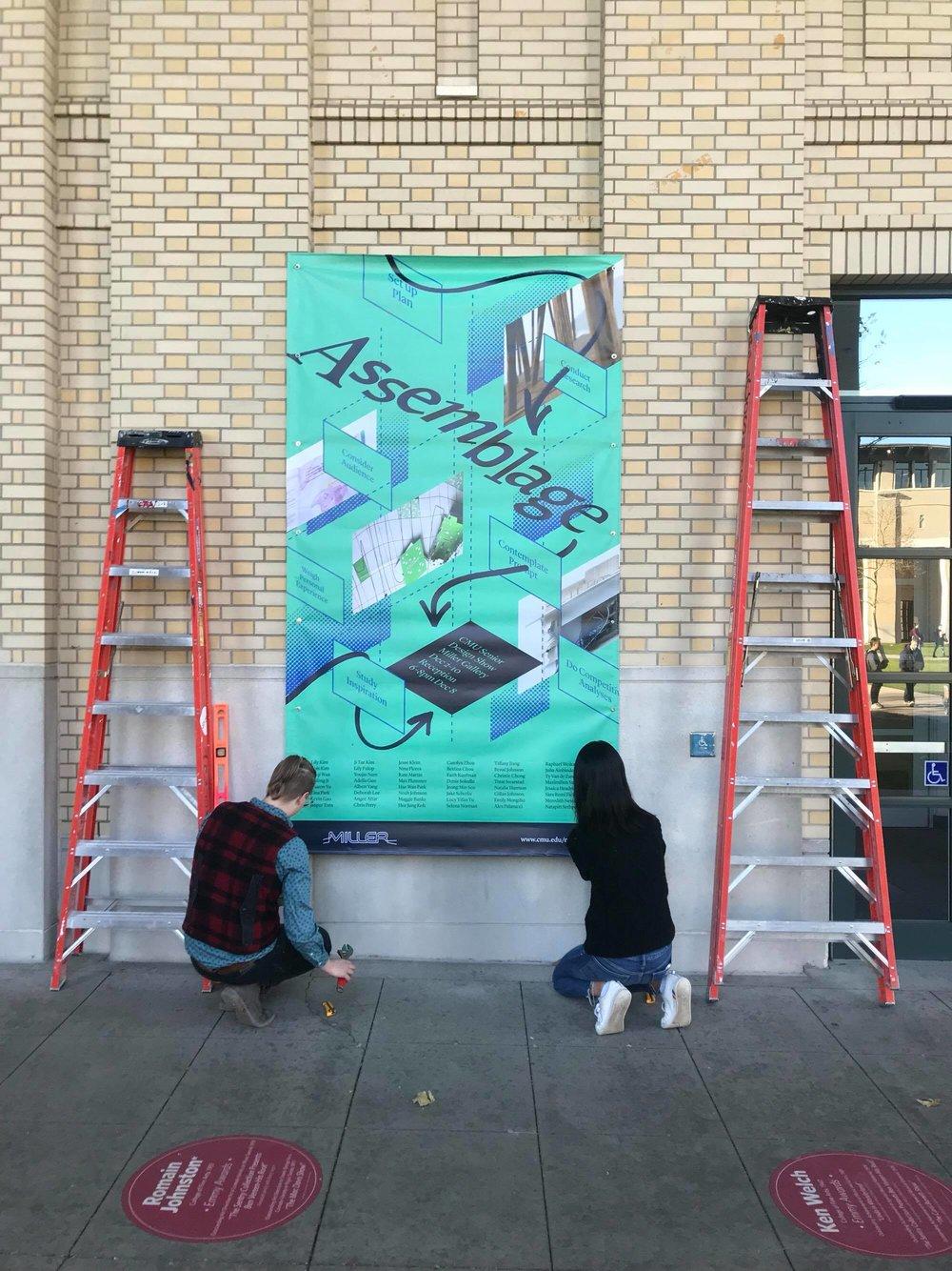Banner installation.