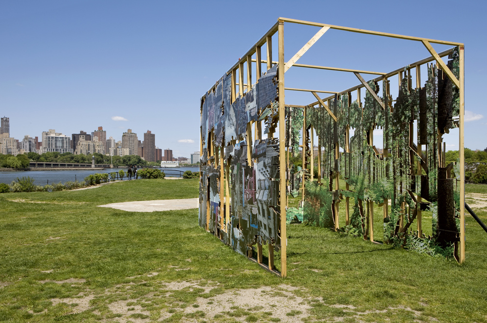 Facade Exhibited for Cityscape: Surveying the Urban Biotope Socrates Sculpture Park 2010