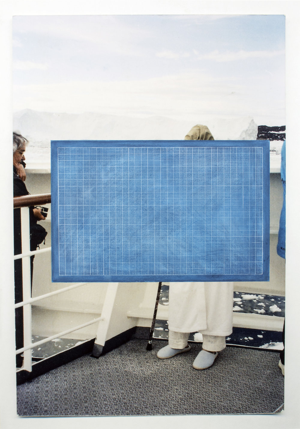 Glaciers  2015  Hahnamuela archival inkjet paper, pastel, pencil  24 X 34 Inches