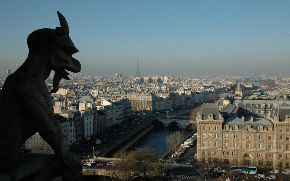Gargoyle's view from Notre Dame de Paris © 2016 Church InSites, LLC. All Rights Reserved.