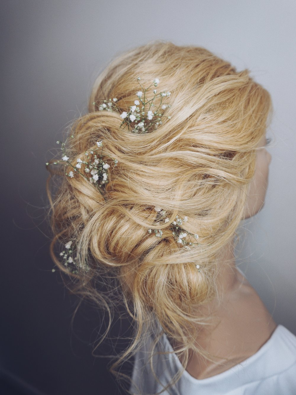 wedding hairstyle ideas updos with babysbreath