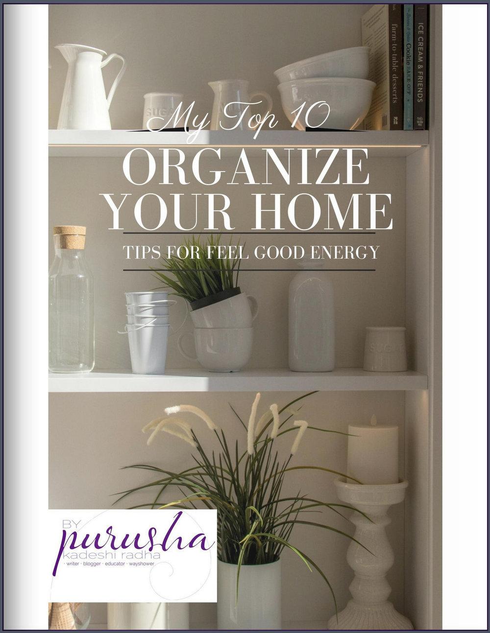 Top 10 Organize Your Home Tips free e-book