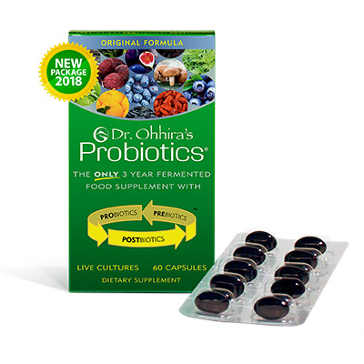 Dr. Ohhira's Probiotics packaging for 2018