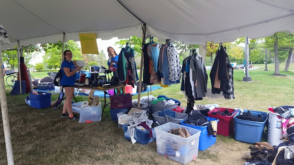 Step 3: Move-In sale - At the beginning of the fall semester, the items that UBReUSE saved from going to landfill were sold back to incoming students in order to create a Green Fund for other student-led sustainability initiatives on campus.