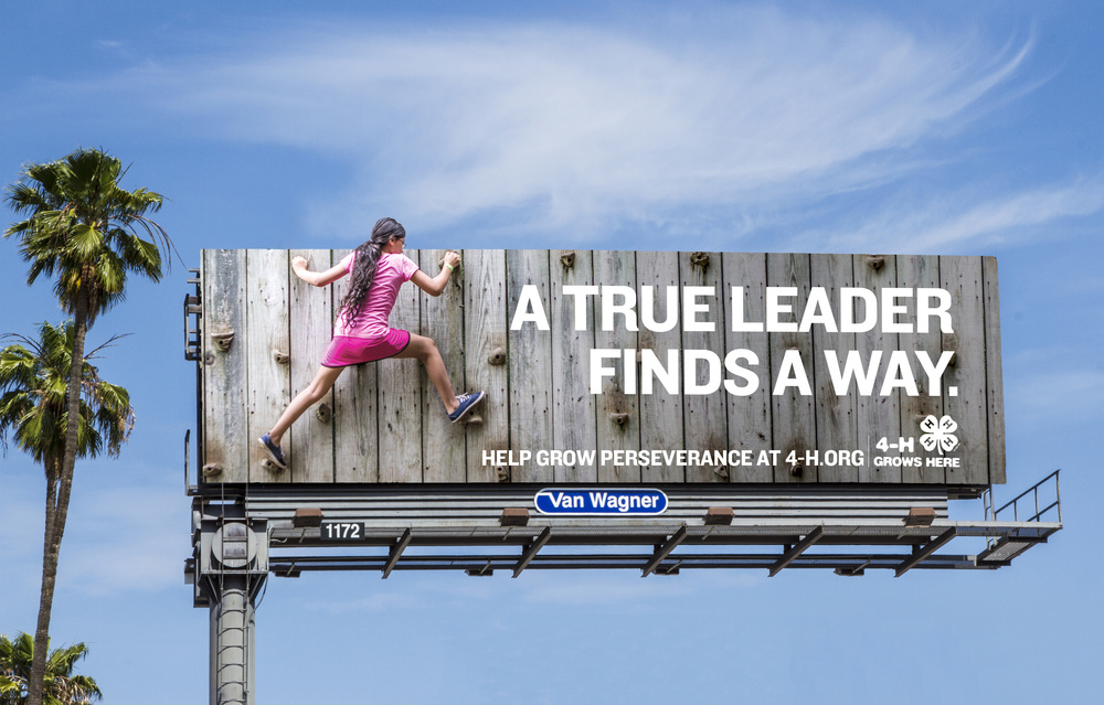Outdoor billboard for 4H