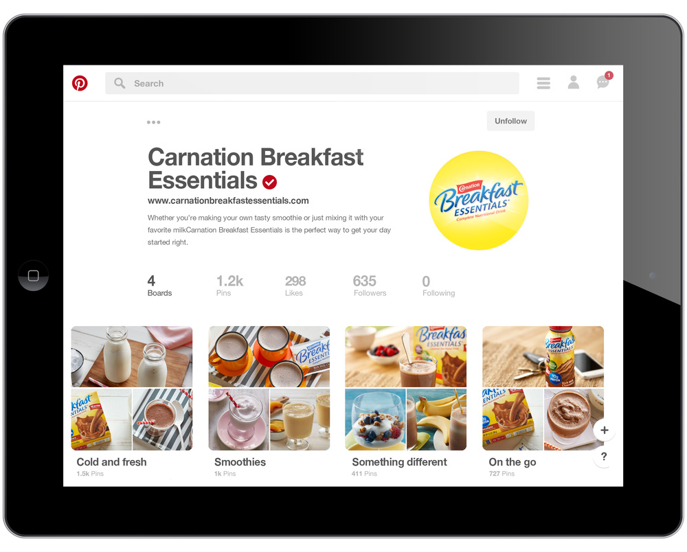 Pinterest launch optimized for mobile viewing and featuring updated photography.