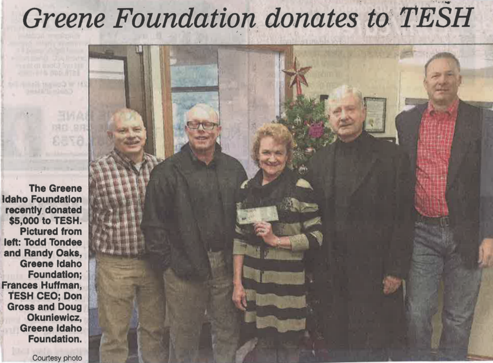 TESH donation 2015.png