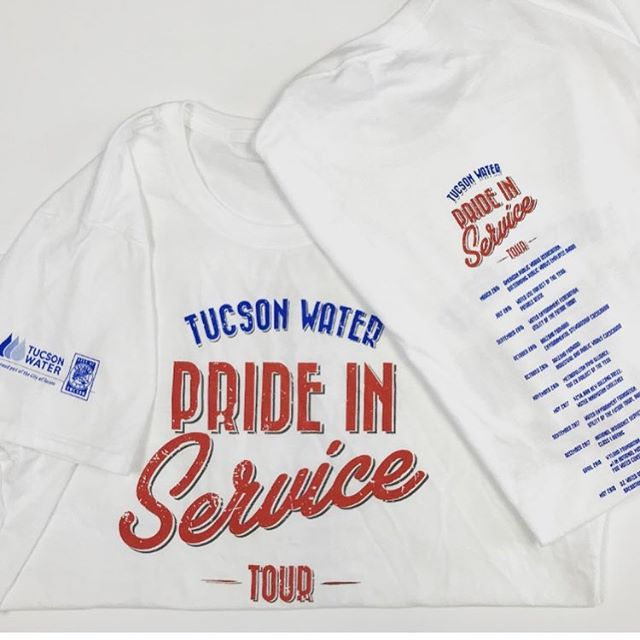 We had the pleasure of designing and passing these t-shirts out at Saturday's @tucsonwateraz employee appreciation event.  #design #graphics #prideinservice #art #graphicdesign #tshirtdesign #graphictees #graphicartist #creative