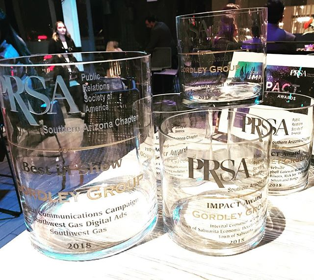 We had so much fun at the PRSA IMPACT Awards last night! We racked up a few awards... AND BEST IN SHOW. no big deal.  #pr #prtucson #communications #tucsonevents #events #awards