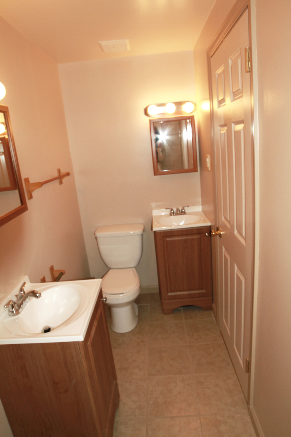 An example of our second style of bathroom. Everything you see here is brand new!