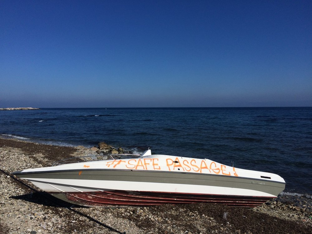 I returned to the scene the next morning.  The boat had already been tagged, #safepassage.