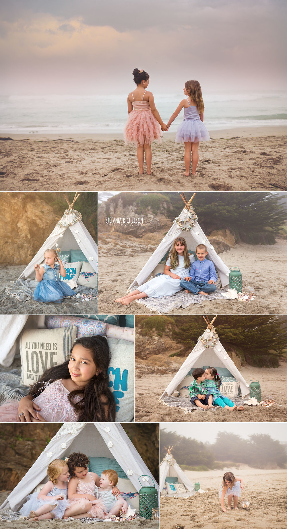 kids-on-the-beach-with-a-teepee-in-Fort-Bragg.jpg
