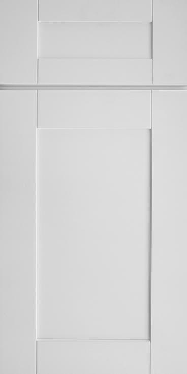 White Shaker Door with seams