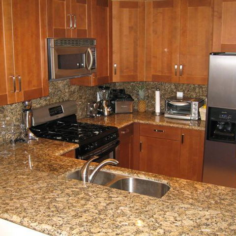 Kitchen Using Prefabricated Granite